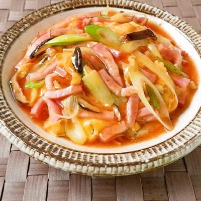 酸っぱ辛い 具だくさん天津麺