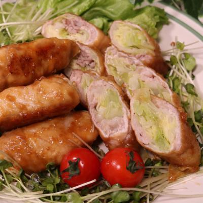 野菜もお肉も食べられる!生姜焼きdeキャベツ巻き