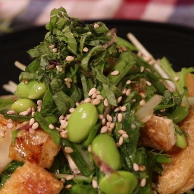 シンプル!水菜のサラダ
