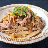 プルコギ風 牛肉とたっぷり根菜のすき煮