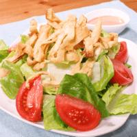 カリカリ油揚げのロメインレタスサラダ