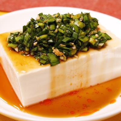 豆腐の万能ニラダレがけ