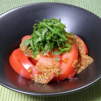 中華風ゴマドレッシングのトマトサラダ