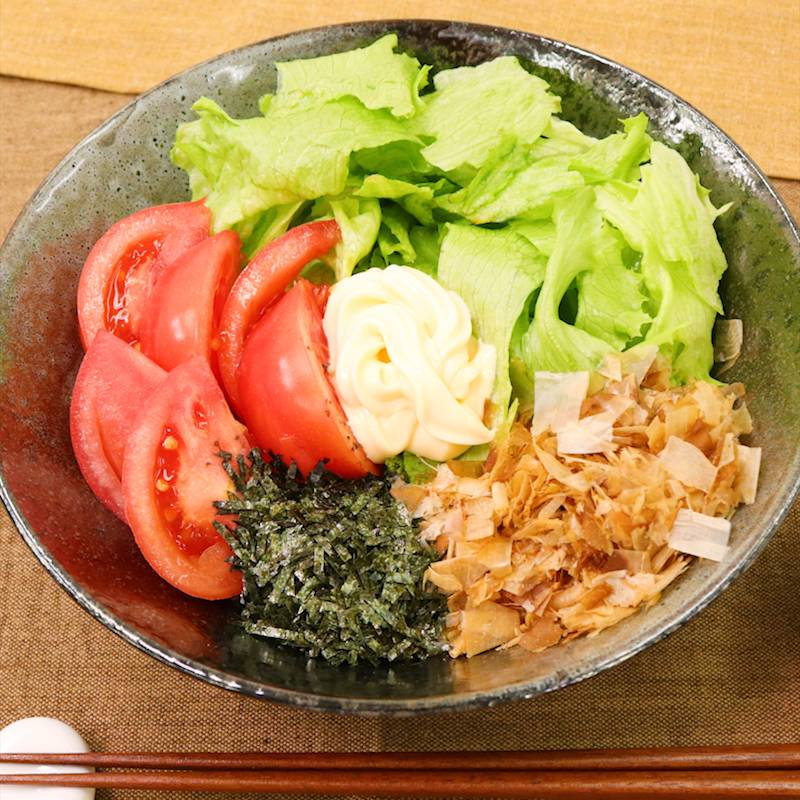 サラダ うどん レシピ 人気