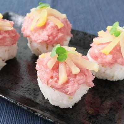 トロたく手まり寿司