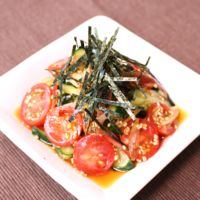 さっぱり爽やか!きゅうりとトマトとミョウガの中華和え