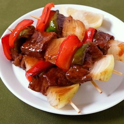 フライパンで作る 牛串焼き