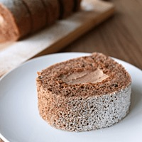 シンプル チョコレートロールケーキ
