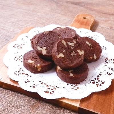 トースターでくるみとチョコのクッキー