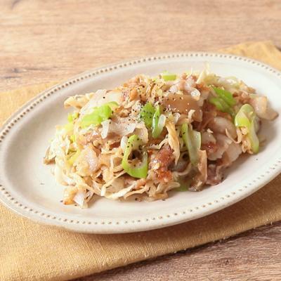 豚バラ肉とザーサイの炒め物