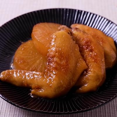 鶏手羽先と大根のしょうゆ煮