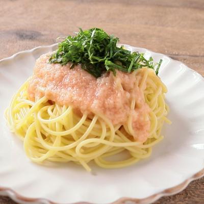 大葉たっぷり 冷製明太とろろスパゲティ