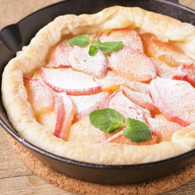 スキレットでオープンりんごパイ
