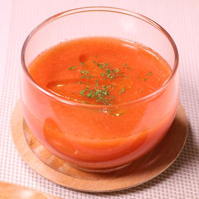 トマト缶で作る冷たいスープ ガスパチョ