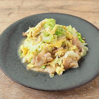 簡単で美味しい 豚バラとキャベツの中華炒め