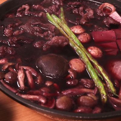 ワイン鍋!すき焼き風