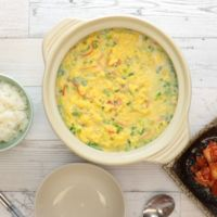 土鍋で 韓国風茶碗蒸し