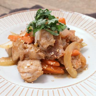豚ロースと香味野菜のスタミナ炒め
