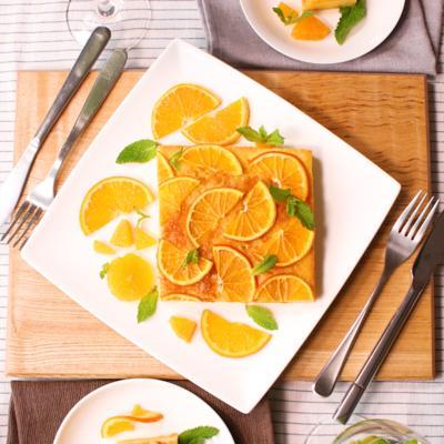 バターなし!生クリームで作るふわふわオレンジケーキ