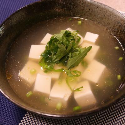 豆腐と大葉のあっさりスープ