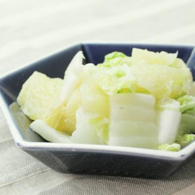 簡単 白菜とグレープフルーツのさっぱりサラダ
