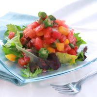 タコと夏野菜の明太子サラダ