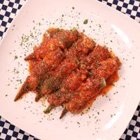 レンジで簡単!豚肉とオクラのトマト煮