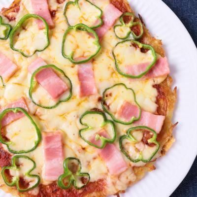 玉ねぎとじゃがいものピザ風おやき