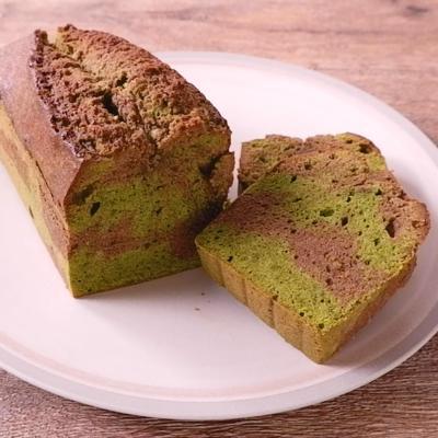 抹茶とほうじ茶のパウンドケーキ