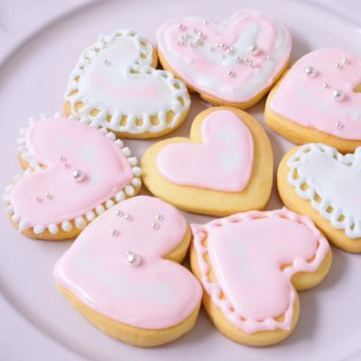 ハートがかわいいアイシングクッキー