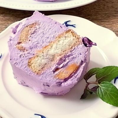 ブルーベリーのビスケットケーキ