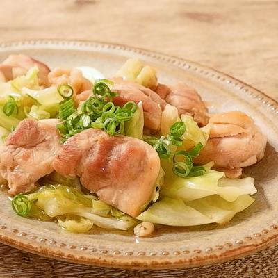 鶏もも肉とキャベツのゆず胡椒炒め