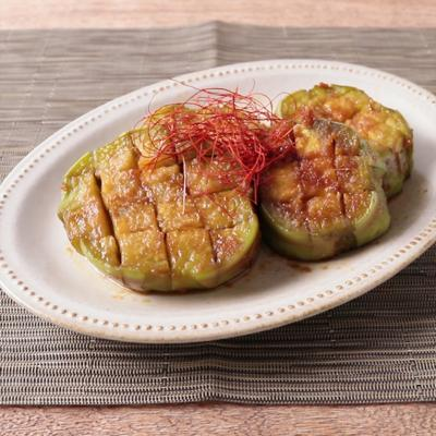 白ナスの生姜醤油焼き