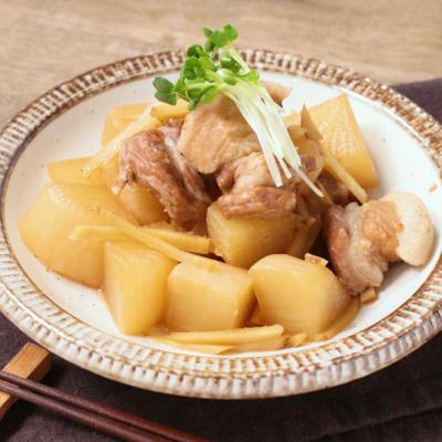 圧力鍋でしみしみ 豚肉と大根の煮物