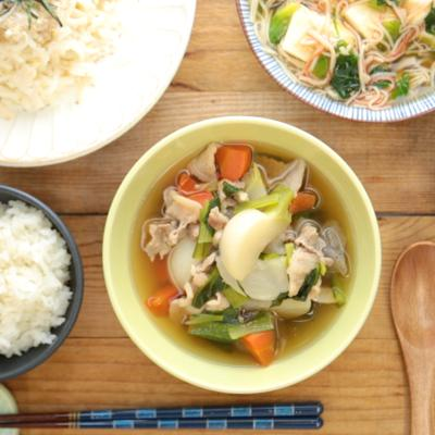 豚肉とかぶの具だくさんスープ