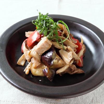 さっぱり 彩り野菜の梅ポン炒め