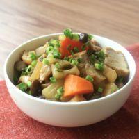 簡単おかず 根菜のポン酢煮込み