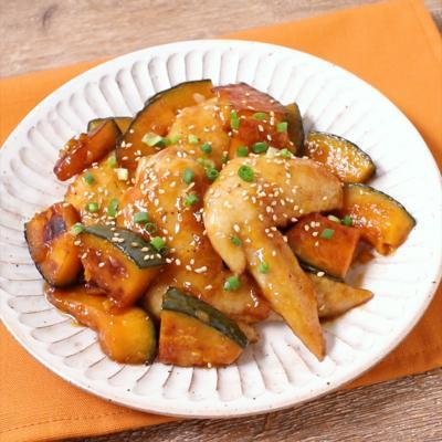 フライパンで簡単 手羽先とかぼちゃの甘辛煮