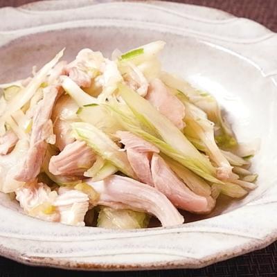 ピリ辛 セロリと鶏もも肉のゆず胡椒和え