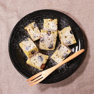 簡単!黒豆と抹茶のスティックパンケーキ