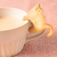 材料3つ コップのふちクッキー