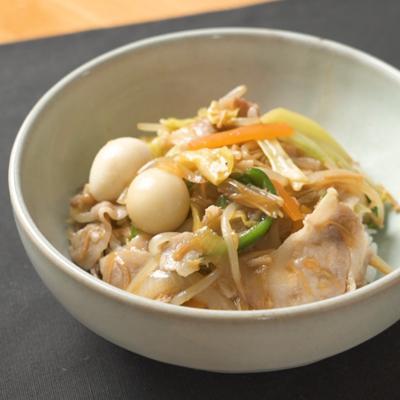 【鳥羽シェフ】10分でとろとろ なめ茸中華丼