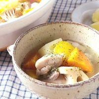 ゴロゴロ野菜とチキンのハーブレモン鍋