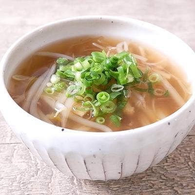 もやしとえのきの中華スープ