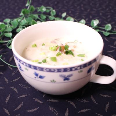 たっぷりキノコと葱のスープ