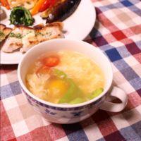 たまごがとろとろ!簡単コンソメスープ