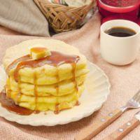 朝のコーヒーに お餅のもちもち和風パンケーキ