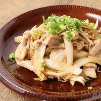豚肉とキノコのオイマヨ炒め
