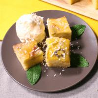 ホットケーキミックスでとっても簡単 トロピカルアップサイドダウンケーキ
