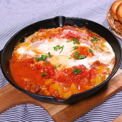 スキレットで作る イスラエルの朝ごはんシュクシュカ